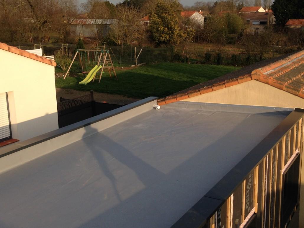 voyau couverture toiture terrasse sur agrandissement ossature bois. Black Bedroom Furniture Sets. Home Design Ideas
